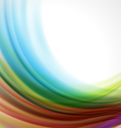 Abstract colorful smooth background vector image vector image