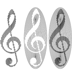 Abstract treble clefs vector