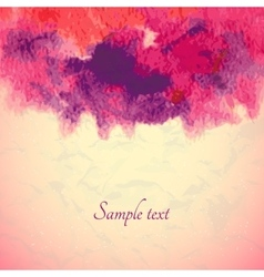 Abstract watercolor background Ink vector image vector image