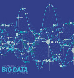 Big data line graph blue vector