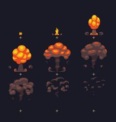 cartoon atomic bomb explosion ground explosion vector image vector image