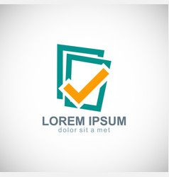 Check list data logo vector