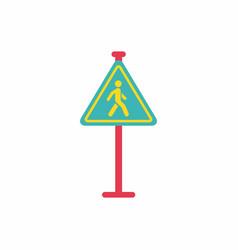 crosswalk traffic signman walking road sign vector image vector image