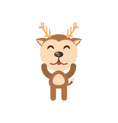 Cute deer animal character funny vector