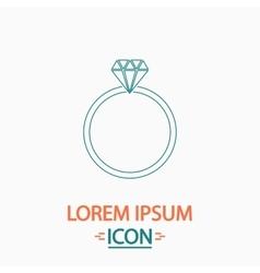 Diamond ring computer symbol vector