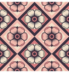 Fashion pattern with abstract flowers vector image vector image