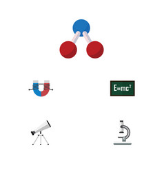 Flat icon study set of theory of relativity scope vector