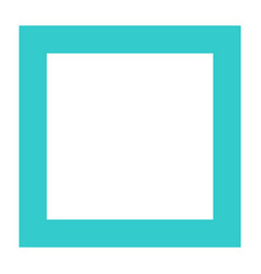 Flat stop icon square sign push interface button vector