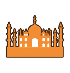 india taj mahal building vector image