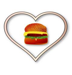 love burgers vector image