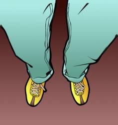 men's legs vector image vector image