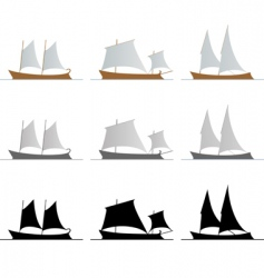nine ships vector image