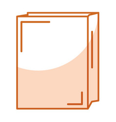 Paper bag for bread vector