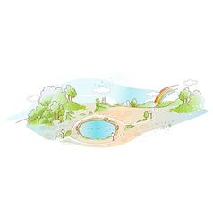 Park Landscape background vector image vector image