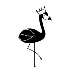 Pink flamingo bird exotic image vector