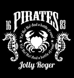 Pirates jolly roger symbol poster of skull vector