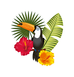 Tropical flower design vector