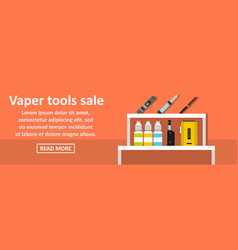 Vaper tools sale banner horizontal concept vector