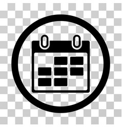 Calendar days rounded icon vector