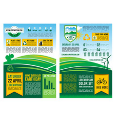 Earth day information poster or infographic vector