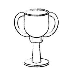 award cup sport win sketch vector image