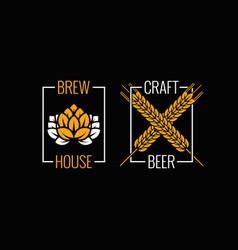 Beer logo set design background vector