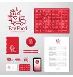 Favorite food delivery abstract concept vector