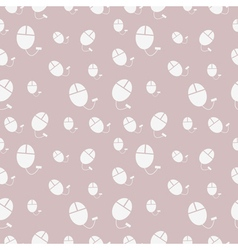 Seamless pattern with pc mouse vector