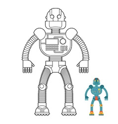 Robot coloring book cyborg - technological machine vector