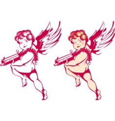 Cartoon cupids vector