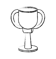 Award cup sport win sketch vector