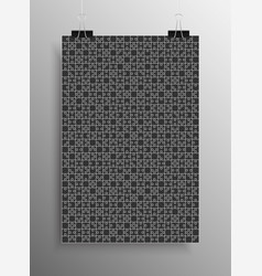 black puzzle pieces jigsaw background vector image vector image