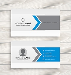 Clean white business card design vector