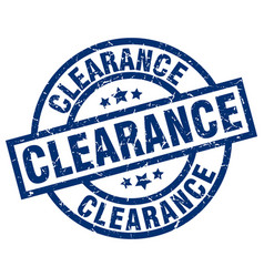 clearance blue round grunge stamp vector image vector image