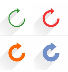 Color arrow refresh repeat reset icon on white vector