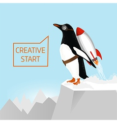 Creative start and creative idea concept vector image vector image