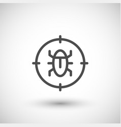 Disinfestation line icon vector