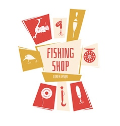 Fishing Shop Background vector image