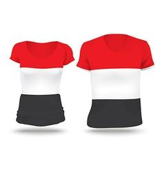 Flag shirt design of Yemen vector image
