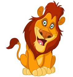 happy lion vector image