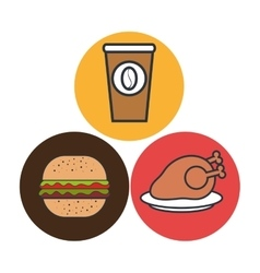 Hot chicken meat isolated icon design vector