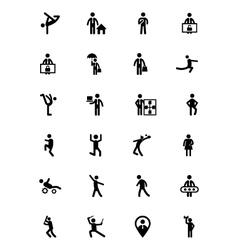 Human icons 11 vector