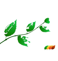 Icon leaves vector image vector image