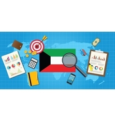 Kuwait middle east economy economic condition vector