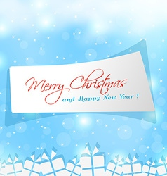 label sticker for Merry Christmas time vector image vector image