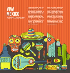 Mexico Card Template vector image