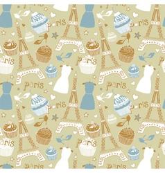 Paris Elements Background vector image