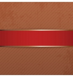Realistic christmas or valentines day red banner vector