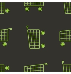 Shopping cart seamless pattern marketing vector