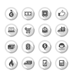Shopping flat icons set 01 vector image